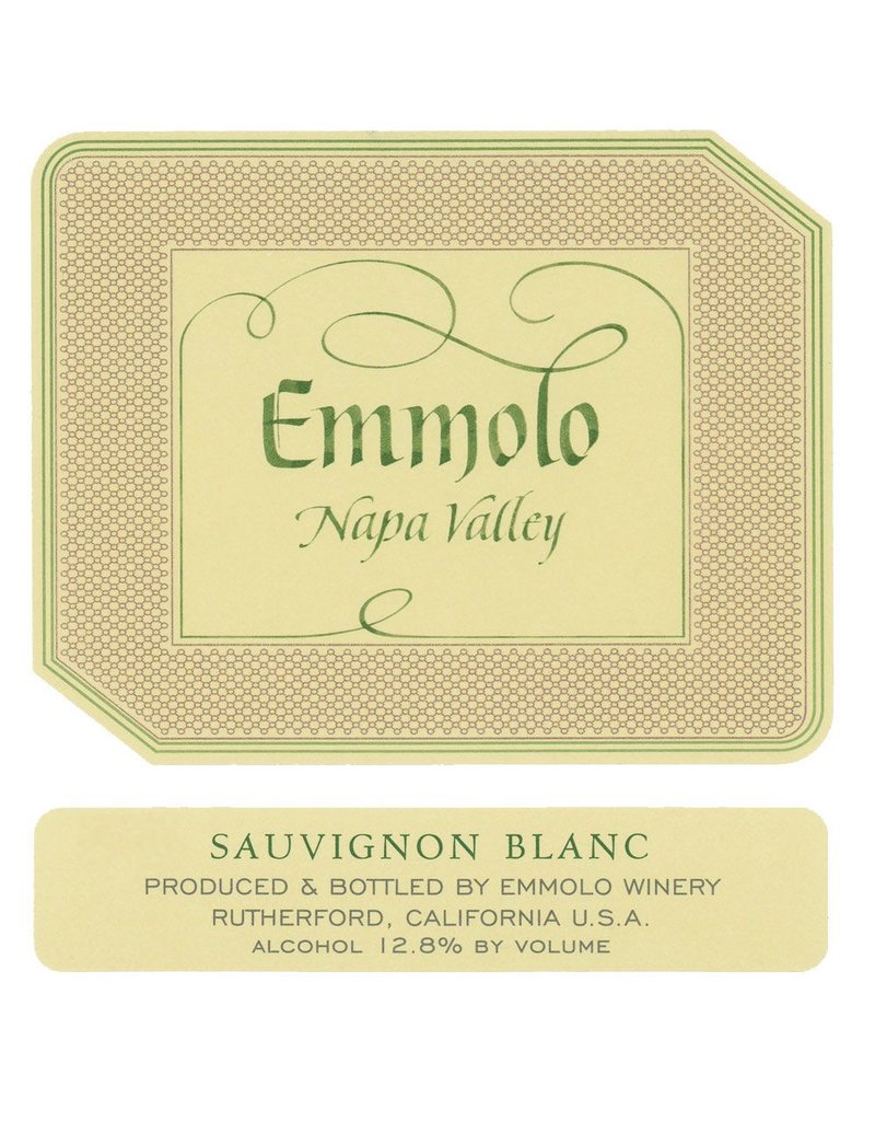 Wine Sauvignon Blanc, Emmolo Winery, Napa Valley, CA, 2015