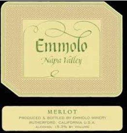 Merlot, Emmolo Winery, Napa Valley, CA, 2014