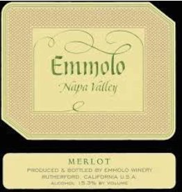 Wine Merlot, Emmolo Winery, Napa Valley, CA, 2014