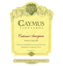 Wine Cabernet Sauvignon, Caymus Vineyards, CA, 2015
