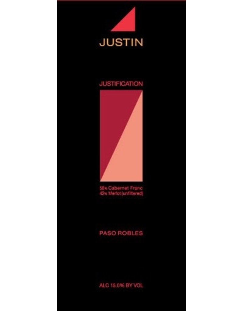 "Cabernet Franc/Merlot ""Justification"", Justin Vineyards, Paso Robles, CA, 2014"