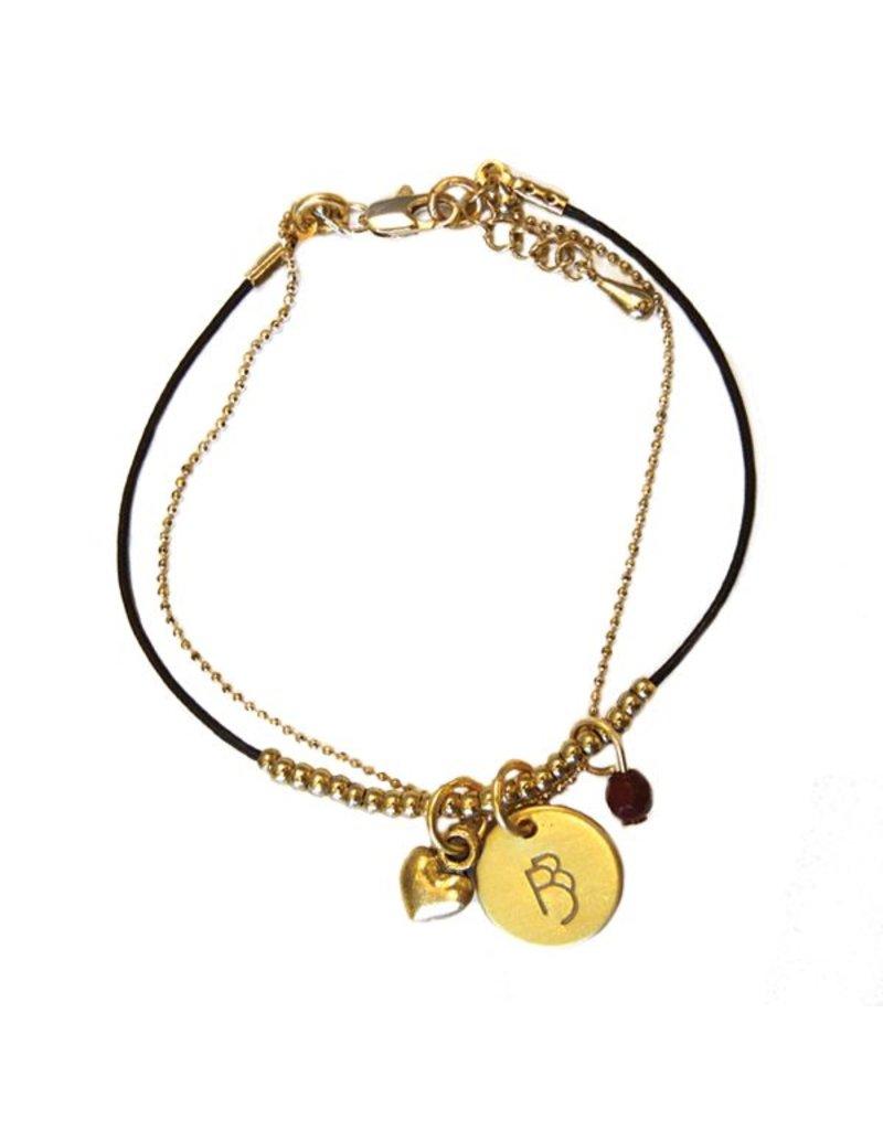 Onegin Leather Beaded Bracelet