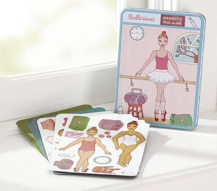 Ballerina Doll Magnet Set
