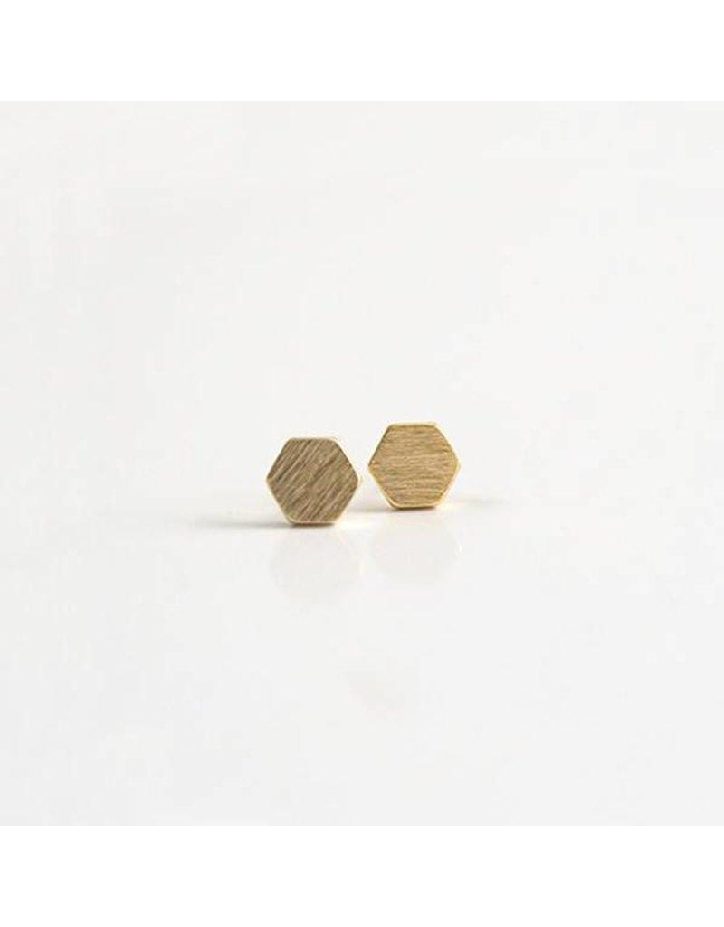 Hexagon 3D Earrings