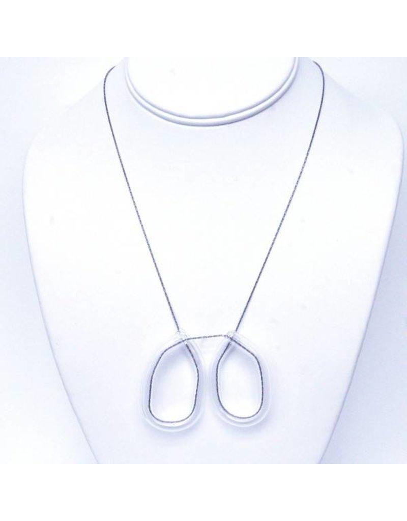 SkLO Double Loop Pendant Necklace