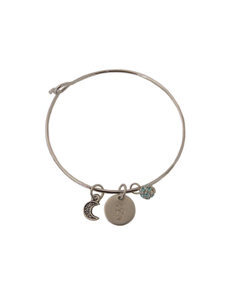 Swan Lake Moon Bangle Bracelet
