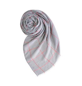Scarf: Plaid Gray