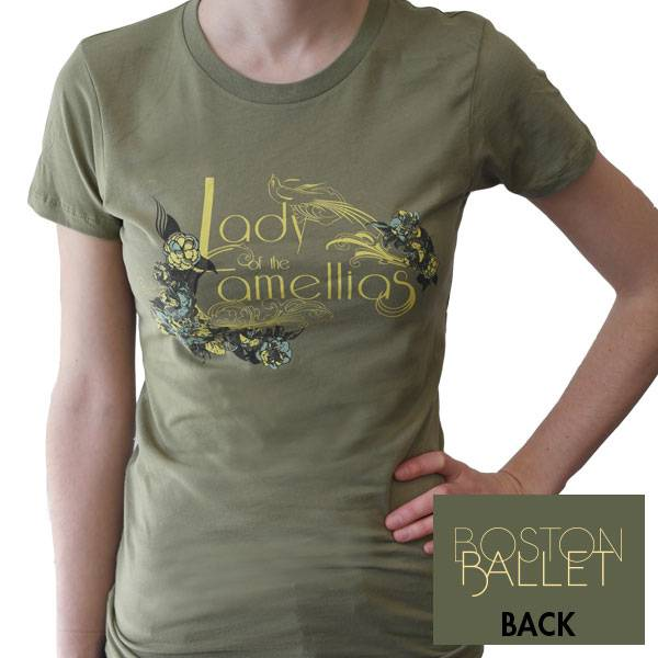 Lady of the Camellias Fitted Tee Small