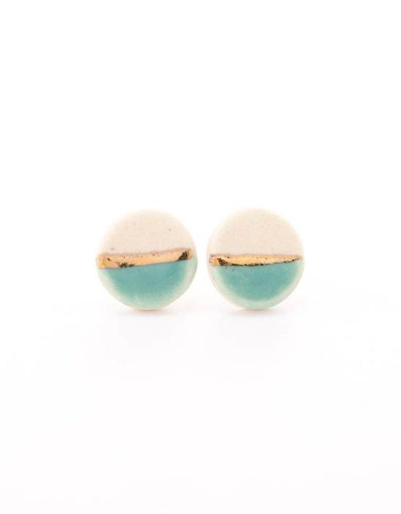 Tiny Pebble Stud Earrings