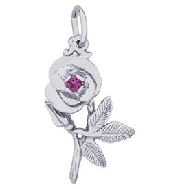Sleeping Beauty Rose Charm