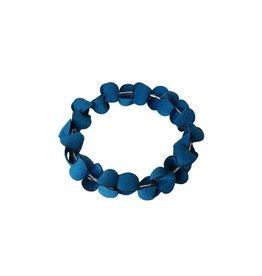 Folded Circle Bracelet: Turquoise