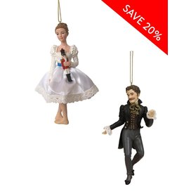 Clara & Drosselmeier Ornament Set