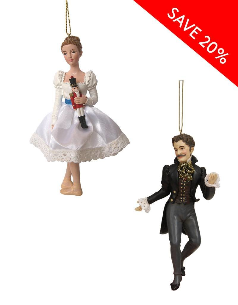 Clara & Drosselmeier Ornament Set