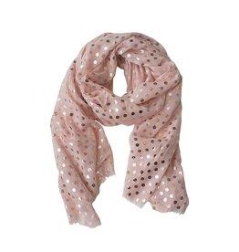 Scarf: Pink Polka Dot