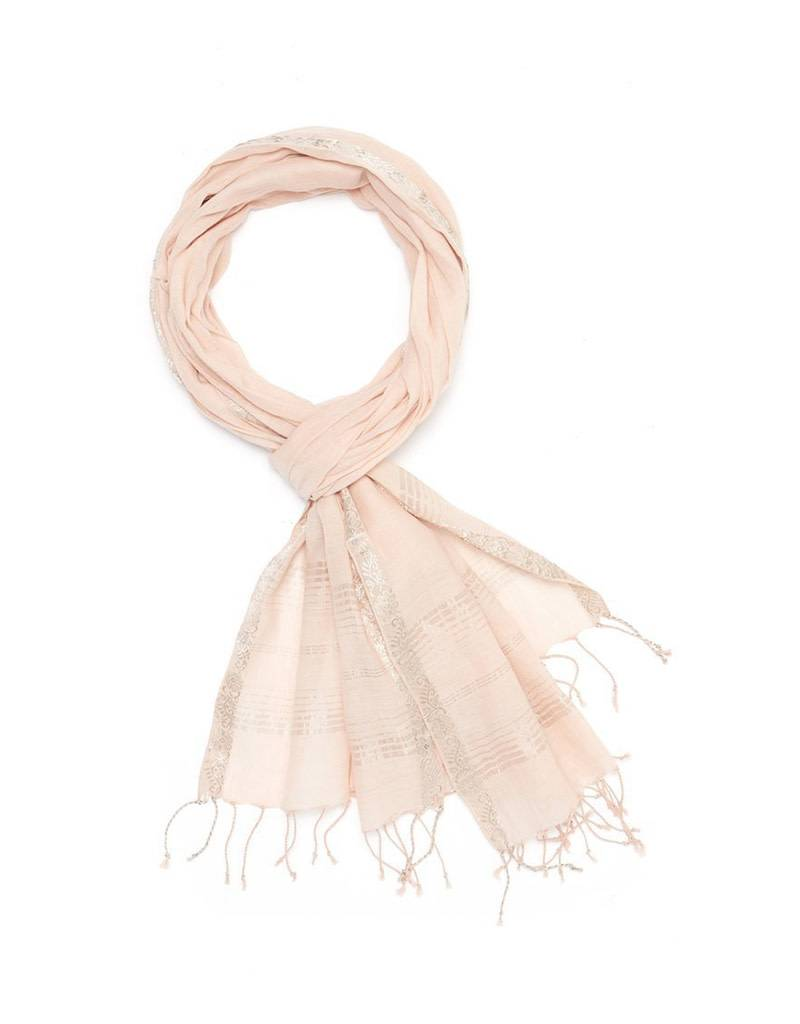 Scarf: Royal Vine Light Pink
