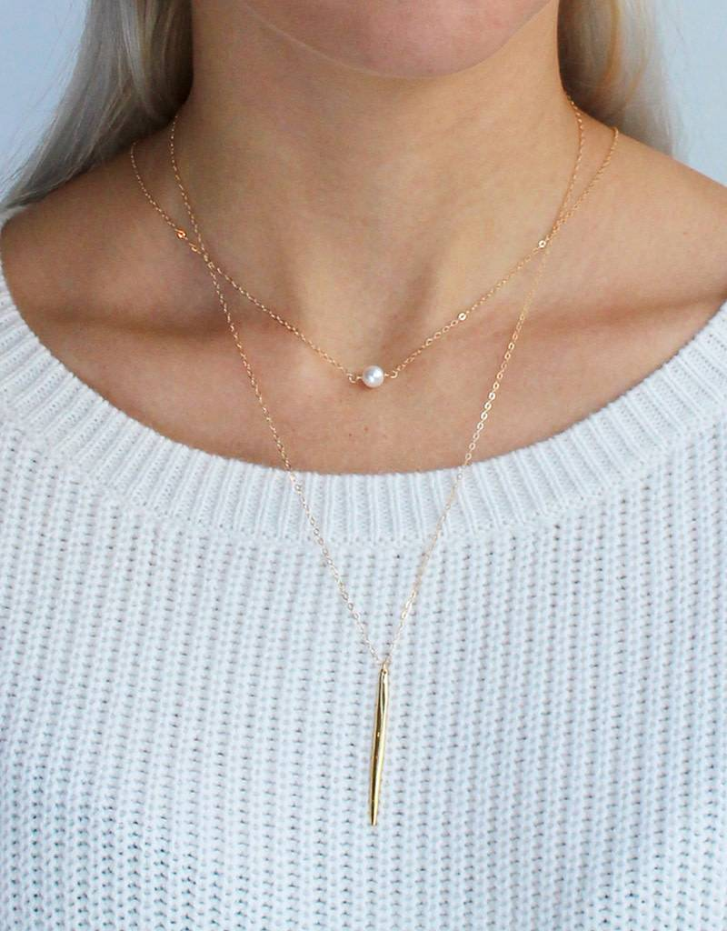 Pearl Solitaire Necklace