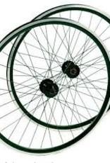 roue ARRIERE Double parois 700c damco argent/noir Roue libre QR