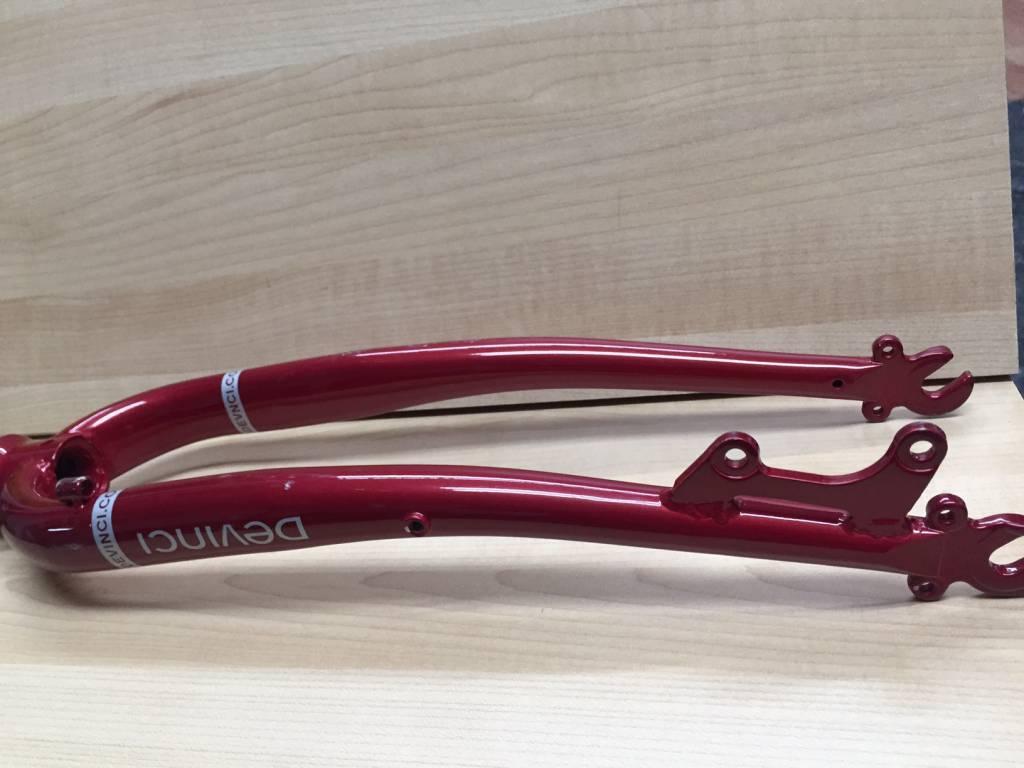 Fourche acier Devinci Amsterdam rouge 700c 1 1/8'' à disc