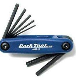 Park Tool JEU 7 CLES Allen HEX AWS-10 bleu