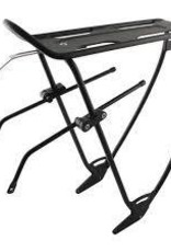 porte bagage EVO, Robin, Rear rack, With top plate, Adjustable sliders, Black