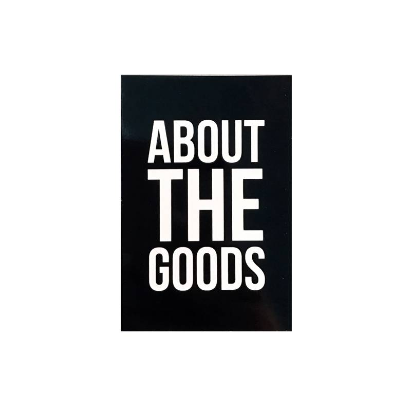 About The Goods Logo Sticker