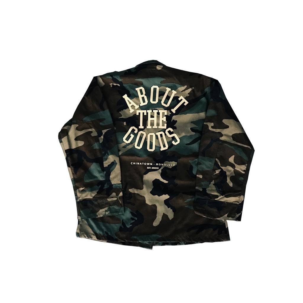 About The Goods 4r Da Squad Camo Jacket