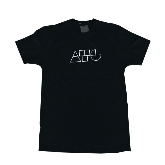 About The Goods Geometric Divide Black Tee