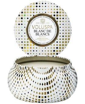 Voluspa Blanc Petite Decorative Tin