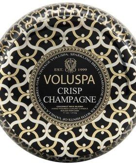 Voluspa Crisp Champagne Two Wick Maison Metallo Candle