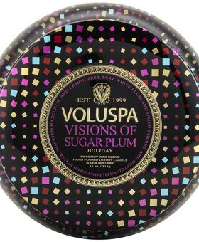 Voluspa Sugar Plum Two wick decorative Tin