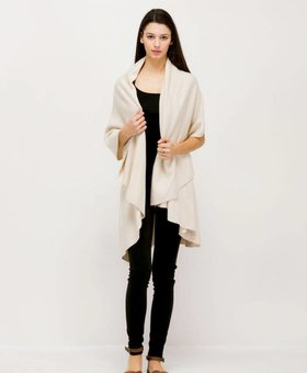 Look by M Cream Shawl Vest~ Look By M