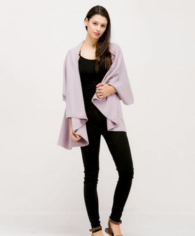Look by M Basic Shawl Vest~ Lavender- Look By M