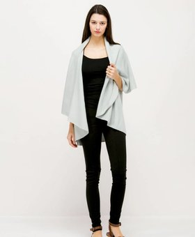 Look by M Basic Shawl Vest~ Cool Mint- Look By M