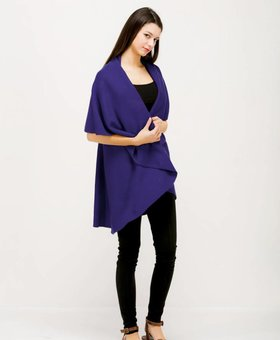 Look by M Basic Shawl Vest~ Violet-  Look By M