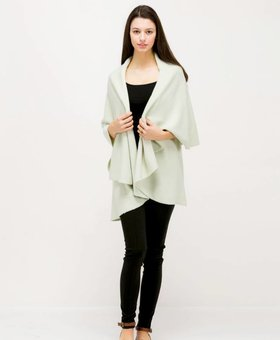 Look by M Basic Shawl Vest~ Sage- Look By M