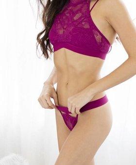 Honeydew Intimates Olivia Thong~Huckleberry