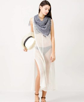 Look by M Striped Vest Cover Up~ Ivory - Look By M