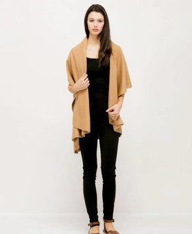 Look by M Basic Shawl Vest~ Camel- Look By M