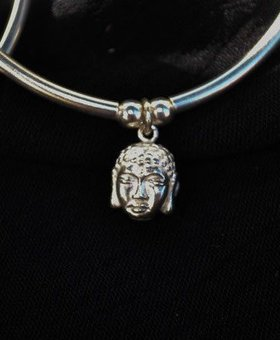 Saraswati Silver Silver Charmer Buddha Head