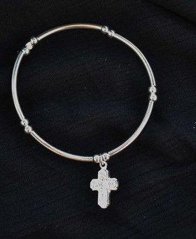 Saraswati Silver Silver Charmer Cross