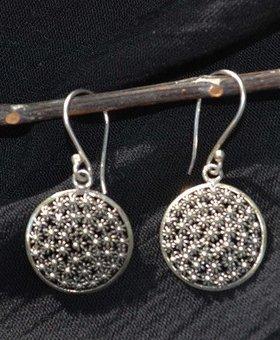 Saraswati Silver Silver Filagree Disc Earring