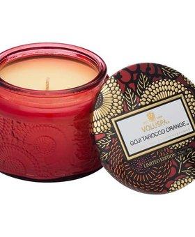 Voluspa Goji Torocco Orange Small Glass Jar Candle