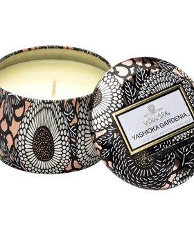 Voluspa Yashioka Gardenia Petite Decorative Tin Candle