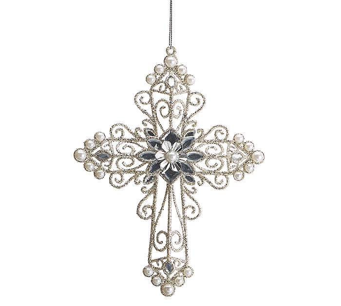 Cross with Pearls~Christmas