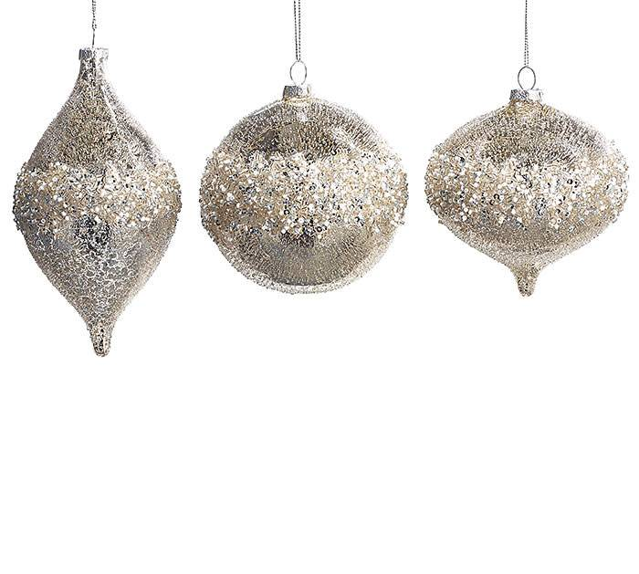 Mercury Glass with Silver Beads~Christmas