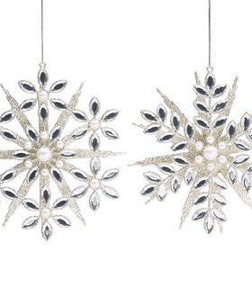 Silver Jewel and Glitter Snowflake~Christmas