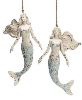 Mermaid Distressed Resin~ Christmas