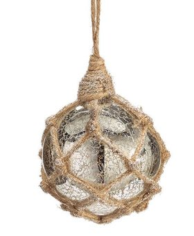 Mercury Glass Buoy with Rope~Christmas