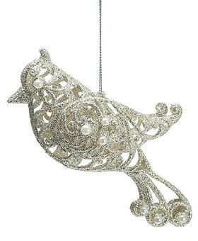 Victorian Bird Ornate Champagne~Christmas