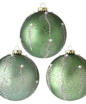 Antiqued Fern Ball Ornament